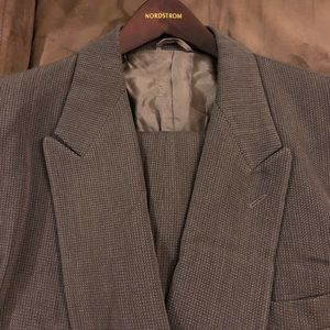 Giorgio Armani Olive Double Breasted Suit 40R